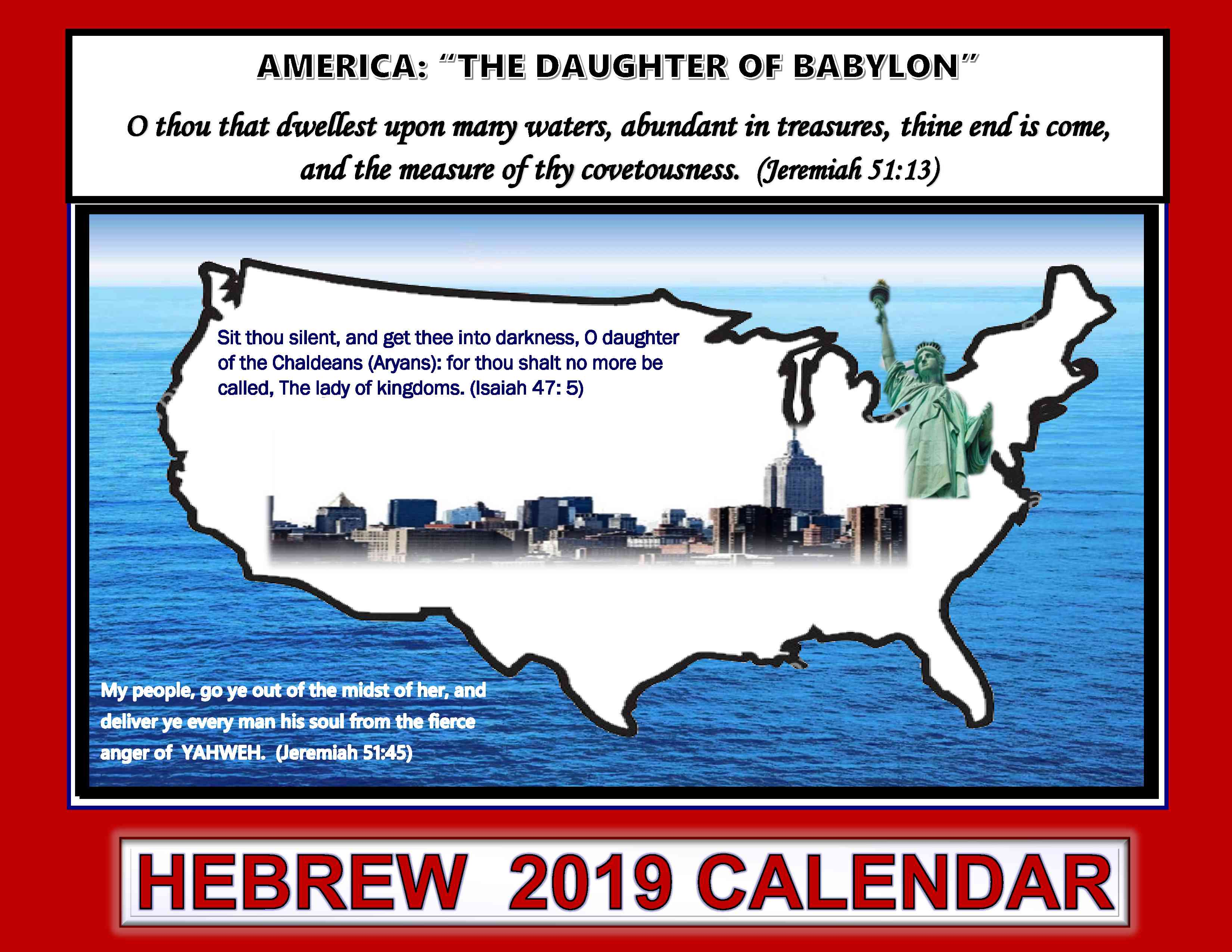 2019 Hebrew Calendar | The New Covenant Congregation of Israel